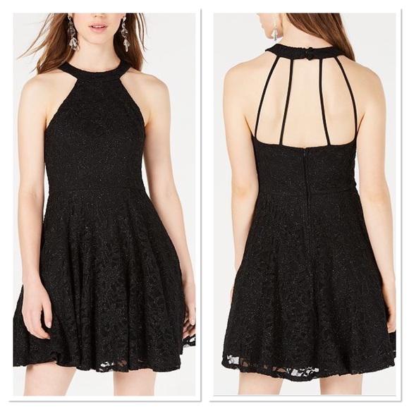 612b44f585f Juniors Glitter Lace Fit   Flare Dress. NWT. B Darlin